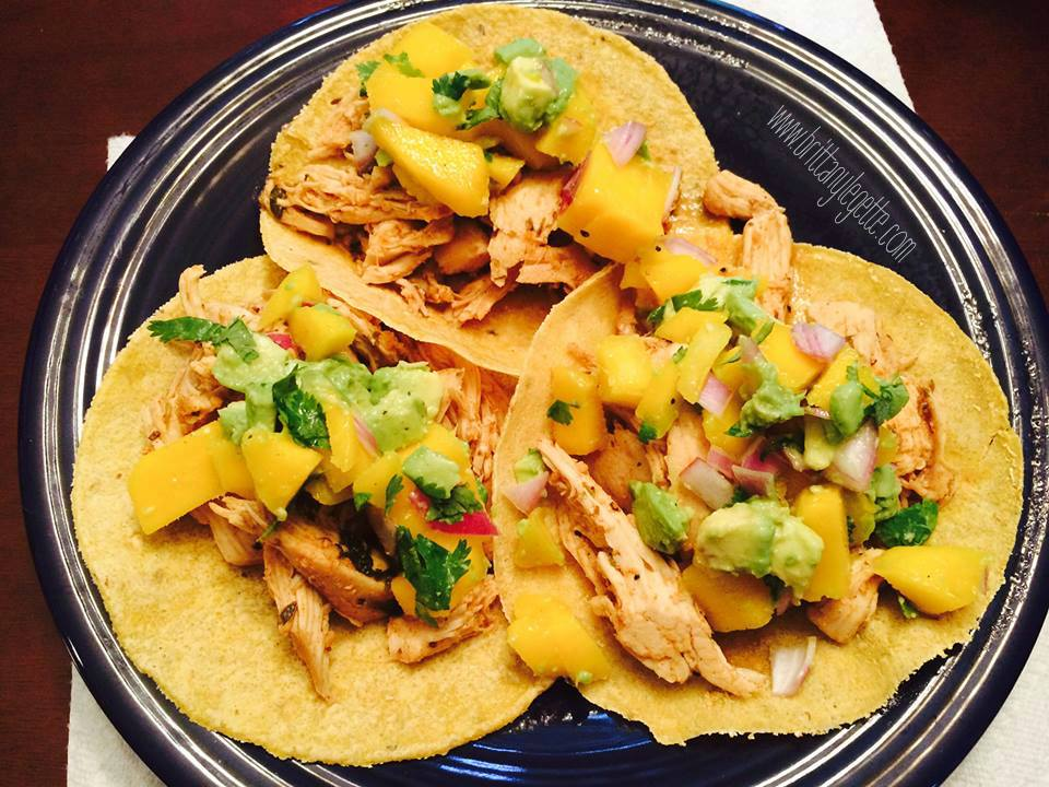 Healthy Slow-Cooker Jerk Chicken Tacos with Caribbean ...